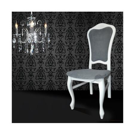 DAMA Eleganckie białe krzesła do salonu