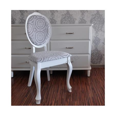 Sonia eleganckie białe krzesła do sypialni i salonu